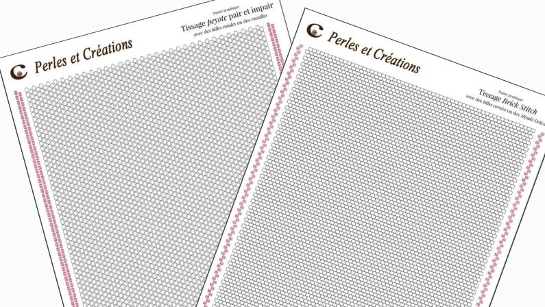 Chartes papier graphique tissage blanche