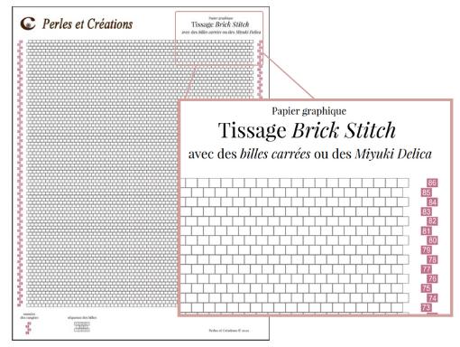 Charte brick stitch pour miyuki