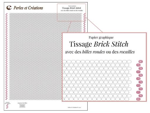 Charte brick stitch pour rocailles