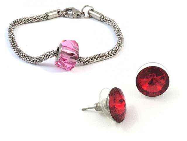 Bracelet pandora et boucle oreille