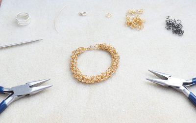 Bracelet chain maille modèle Turkish Round
